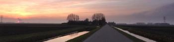 Schermer Molenweg zonsondergang2