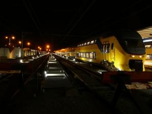 Den Helder station avond