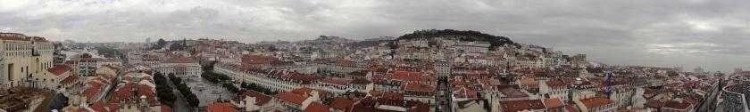 Lissabon Elevador de Sante Justa panorama
