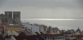 Lissabon Elevador de Sante Justa uitzicht