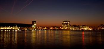 Amsterdam IJ avondlicht