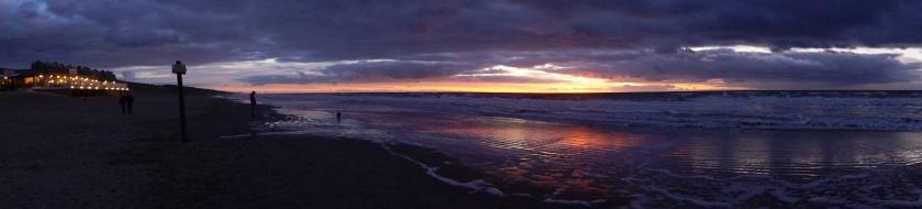 Egmond aan Zee zonsondergang Panorama