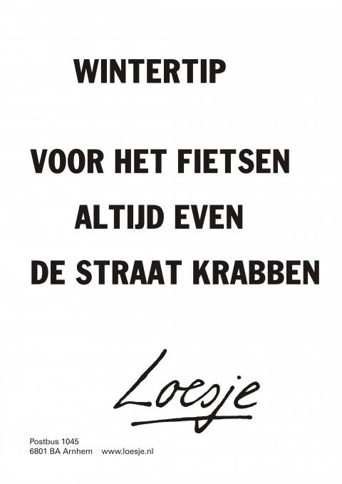 Wintertip Loesje