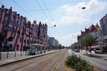 Breitestrasse met Hundertwasser in Magdeburg