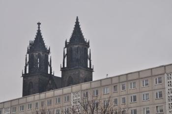 Plattenbau Magdeburg