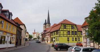 Burg hersteld deel van de stad
