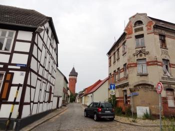 Burg Johannesstrasse met watertoren