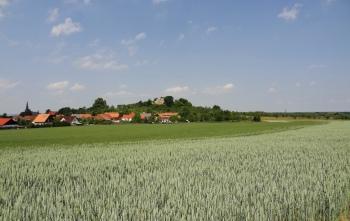 Landschap aan de noordrand van de Harz