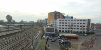 Alkmaar stationstraverse uitzicht west