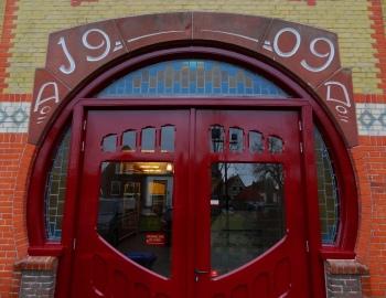 Franeker bibliotheek voordeur