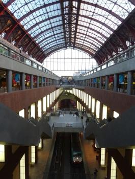 Antwerpen drie spoorlagen