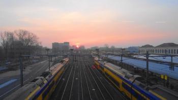 Alkmaar station zonsopkomst