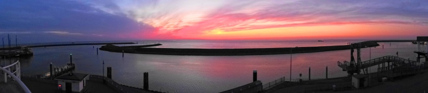 Harlingen zonsondergang panorama 2