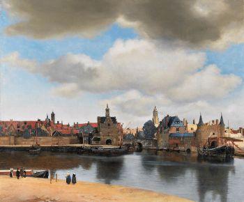 Vermeer gezicht op Delft