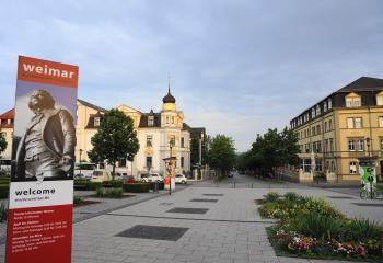 Weimar voor het station